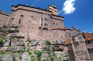 Keep and southern façade of Haut-Koenigsbourg castle