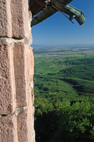 The alsacian plain seen from the grand bastion of castle Haut-Koenigsbourg © Jean-Luc Stadler - Haut-Koenigsbourg castle, Alsace, France