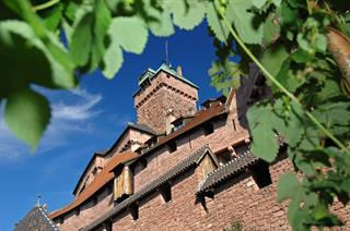 The keep of Haut-Koenigsbourg castle seen from the entrance pathway © Jean-Luc Stadler - Haut-Koenigsbourg castle, Alsace, France