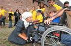 "welcoming of visitors with disabilities during the event ""Un château pour tous"" - © Marc Dossmann"
