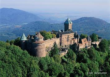 Aerial view of the castle