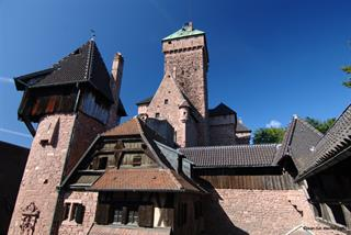 View on the keep from the inner courtyard of Haut-Koenigsbourg castle © Jean-Luc Stadler - Haut-Koenigsbourg castle, Alsace, France