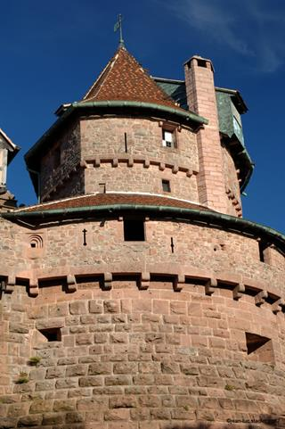 The southern tower of the grand bastion at Haut-Koenigsbourg castle, seen from the West - Jean-Luc Stadler - Haut-Koenigsbourg castle, Alsace, France