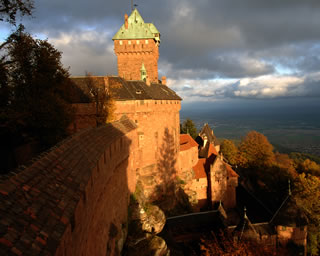 View from the keep of Haut-Koenigsbourg castle